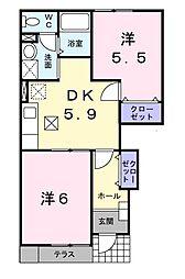 ベルトゥメゾン[1階]の間取り
