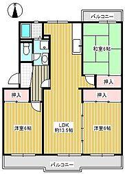 メゾン東栄A棟[403号室]の間取り