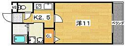 大阪府枚方市宮之阪4丁目の賃貸アパートの間取り