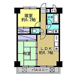東京都三鷹市新川3丁目の賃貸マンションの間取り