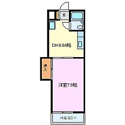 メゾン富士[203号室]の間取り