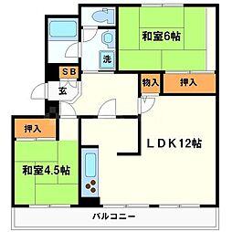江坂住宅3号棟[7階]の間取り