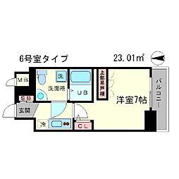 アドバンス心斎橋ラシュレ[3階]の間取り