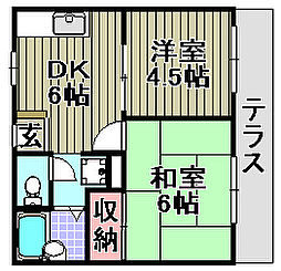 サニーコート泉佐野[A102号室]の間取り