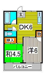 岡田ビル[403号室]の間取り