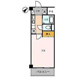 第2コーポ朝倉[302号室号室]の間取り