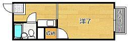ユニメント桂川[1階]の間取り