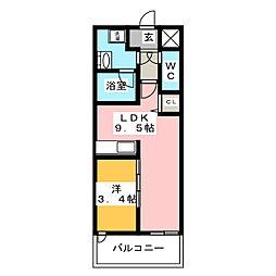 ウェルブライト美野島[5階]の間取り