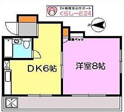 千代田マンション八王子[4階]の間取り