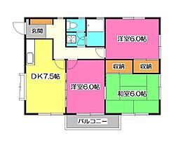 ドマーニ21[2階]の間取り