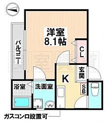 愛知県名古屋市南区大同町5丁目の賃貸アパートの間取り