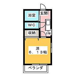 サマックスAOKI A[2階]の間取り