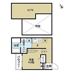Apartment楓(アパートメントフウ)[1階]の間取り