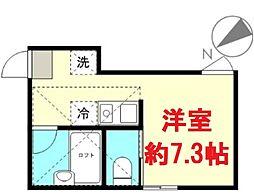 東京都大田区西六郷4丁目の賃貸アパートの間取り