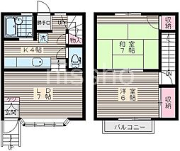 [テラスハウス] 東京都中野区白鷺2丁目 の賃貸【/】の間取り