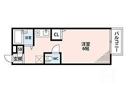 ツシマハイツ[1階]の間取り
