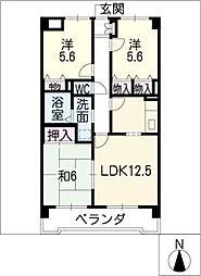 グランドマンション[6階]の間取り