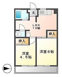 フィレンツェ栄[3階]の間取り
