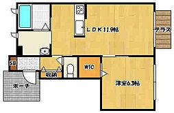 JR山陽本線 明石駅 バス15分 高津橋北下車 徒歩6分の賃貸アパート 1階1LDKの間取り