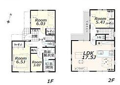 建物参考プラン:間取り/4LDK、延床面積/91.08?、土地建物参考価格/6630万円(税込)