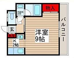 千葉県松戸市五香西1丁目の賃貸マンションの間取り