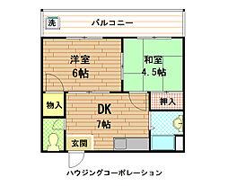 寿好ハイツ[4階]の間取り