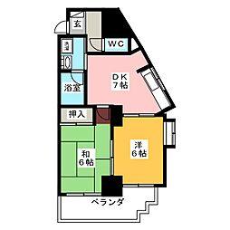 レインボー笠寺[3階]の間取り