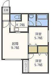 フェリーチェN36[2階]の間取り