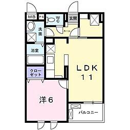 Osaka Metro長堀鶴見緑地線 横堤駅 徒歩12分の賃貸マンション 4階1LDKの間取り