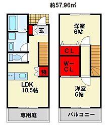 CS 黒崎[2階]の間取り