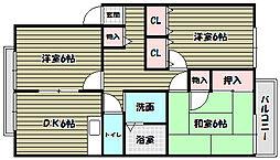 ハイツアオキ[2階]の間取り