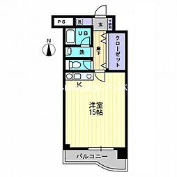 レジデンス平田[4階]の間取り