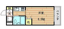 ロイヤルアーク八戸ノ里[2階]の間取り