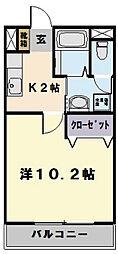 アクア松阪A[307号室]の間取り