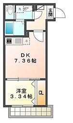 ルナ津田沼[1階]の間取り