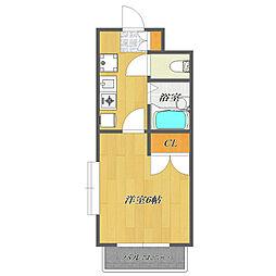 Fuji Mansion Excel 〜フジマンションエクセ[406号室]の間取り