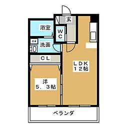 PROMENADE彩[2階]の間取り