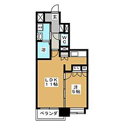 ディークレスト太子堂駅前West[12階]の間取り