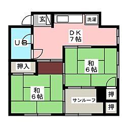 矢野ビル[3階]の間取り