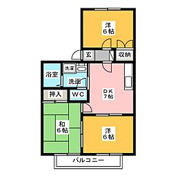 サンシャイン桜山[1階]の間取り
