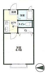 宮城県仙台市太白区緑ケ丘2丁目の賃貸アパートの間取り