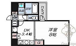 SK扇町公園[406号室]の間取り