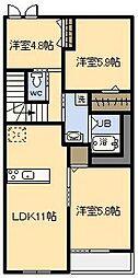 (新築)フェアリー[206号室]の間取り