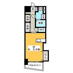 ロイヤルリバービュー143[6階]の間取り