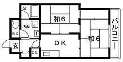 ヴォーンハイム駒川[4階]の間取り