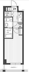 ステージファースト多摩川アジールコート[1階]の間取り
