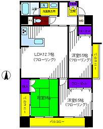 エコ柴崎II[10階]の間取り