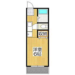 シティハイツ本山[107号室]の間取り