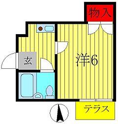 メルベイユ流山第1[2階]の間取り
