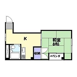 ハイツハマ[2階]の間取り